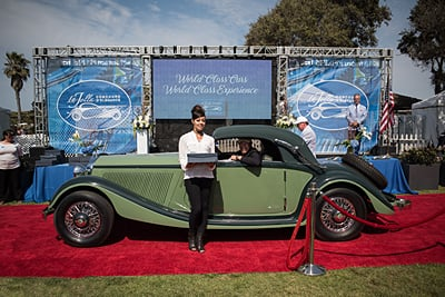 3-European-Classics-Aaron-and-Valerie-Weiss-1936-Mercedes-Benz-290-Cabriolet-A-2-Door-Convertible-Coupe car show