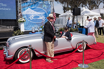 Aubrey-Taylor-Award-of-Excellence-for-Best-Upholstery-Petersen-Automotive-Museum-1953-Nash-Healey-Pininfarina-Convertible car show