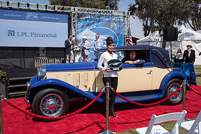 LPL-Financial-Summit-Most-Elegant-Award-Roy-Sayles-1929-Bianchi-S8-Convertible-Touring car show