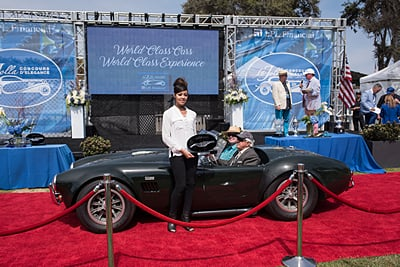 La-Jolla-Historical-Society-Preservation-Award-Skip-and-Margo-Atkins-1966-427-Cobra-Roadster car show