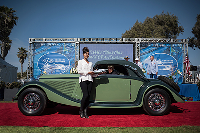 Most-Outstanding-Pre-War-Aaron-and-Valerie-Weiss-1936-Mercedes-Benz-290-Cabriolet-A-2-Door-Convertible-Coupe car show